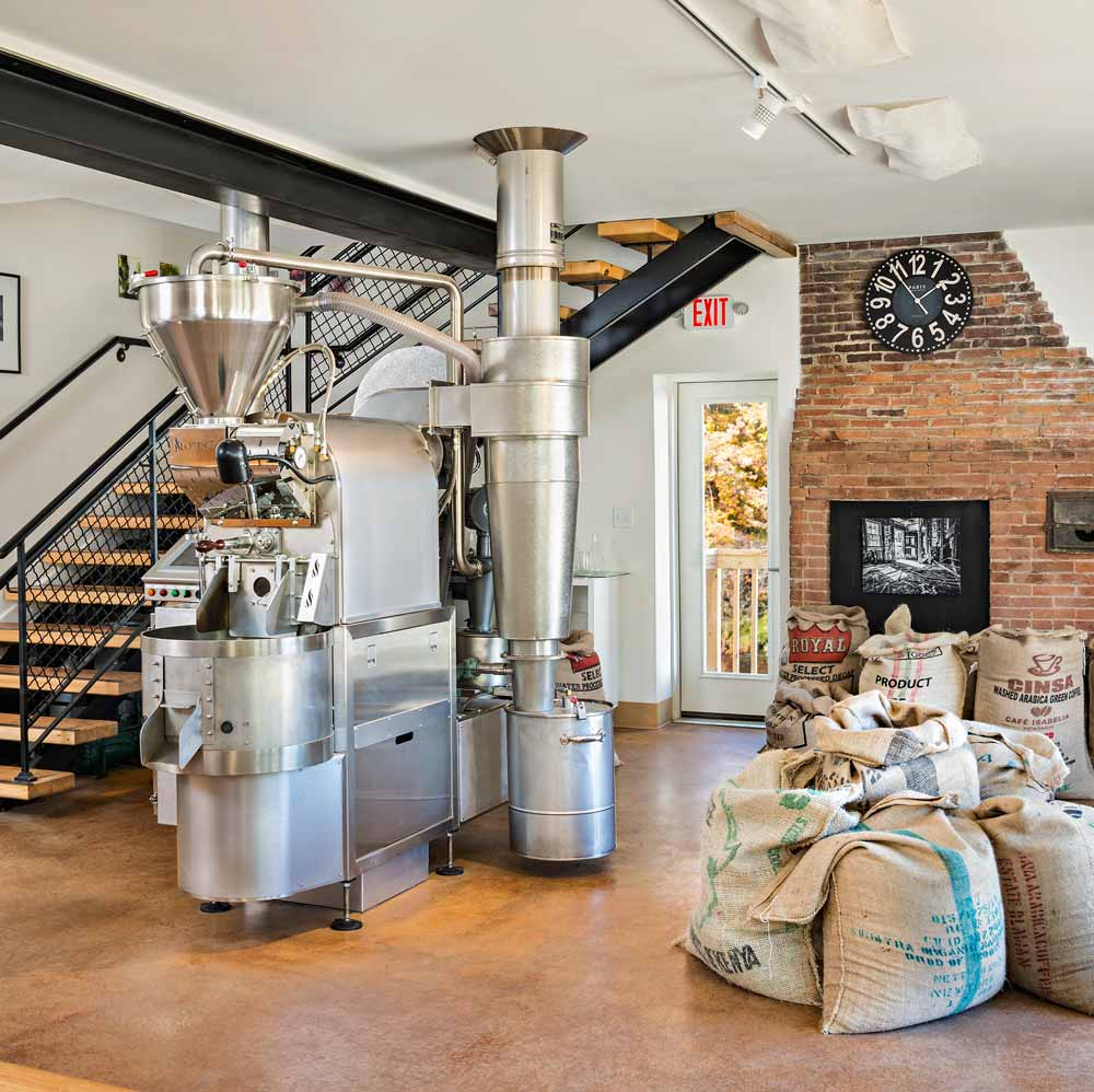 Inside the Prime Roast Roastery in Keene, NH