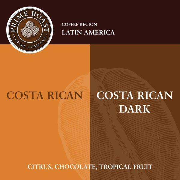 Costa Rican Medium and Dark Coffee Prime Roast Keene Nh