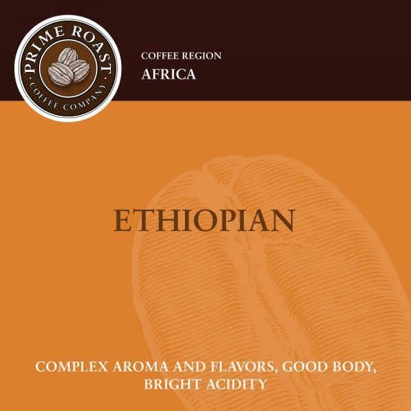 Ethiopian Light Coffee Prime Roast Keene NH