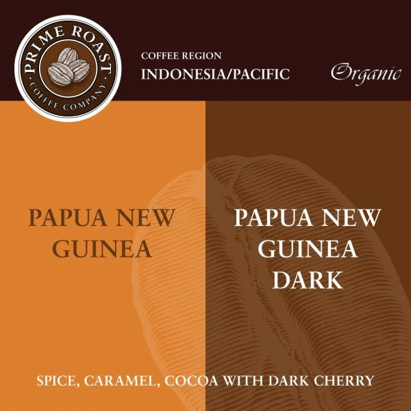 Papua New Guinea Medium and Dark Coffee Prime Roast Keene Nh
