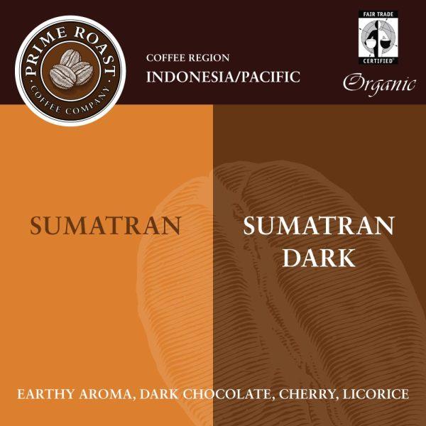 Sumatran Medium and Dark Coffee Prime Roast Keene Nh