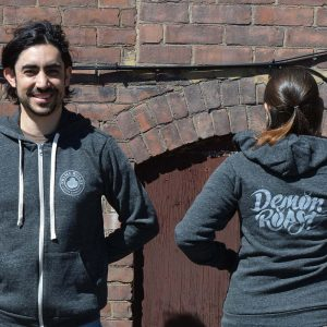 Demon Roast Sweatshirt Front and Back